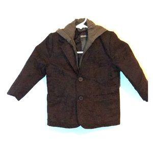 Kenneth Cole toddler blazer brown hoodie 3T
